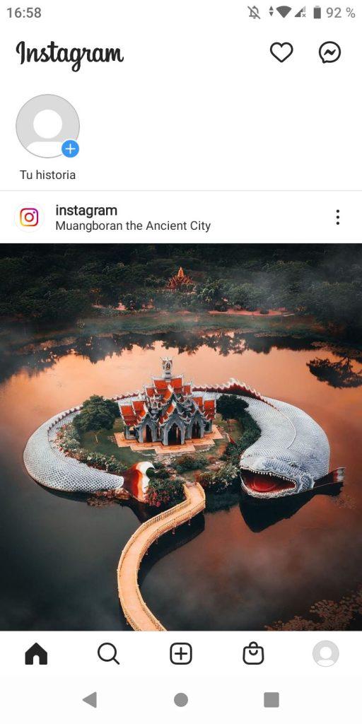 Primer paso para hacer un directo en Instagram desde iPhone o Android