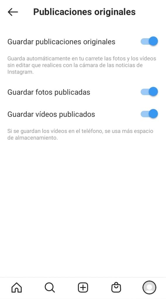 Cómo guardar publicaciones originales de Instagram